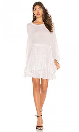 Платье David Lerner. Цвет: белый