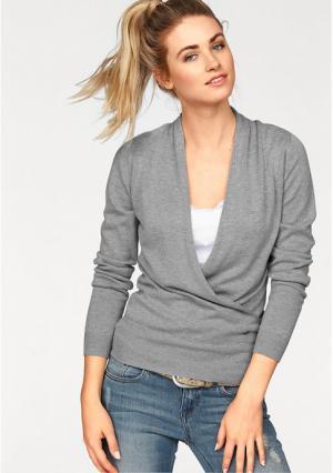 Пуловер AJC. Цвет: светло-серый/меланжевый