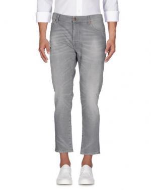 Джинсовые брюки REIGN. Цвет: серый