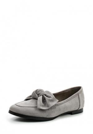 Лоферы Sweet Shoes. Цвет: серый