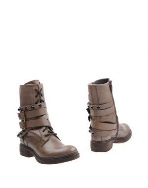 Полусапоги и высокие ботинки MANAS. Цвет: серый