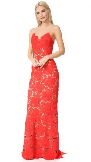 Вечернее платье Jolie Catherine Deane. Цвет: красный