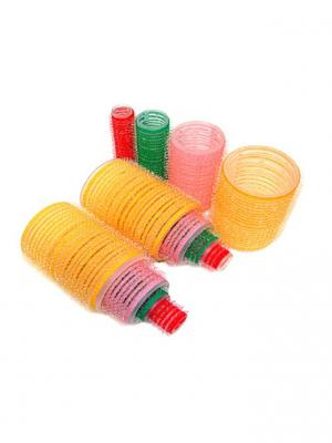 Набор с бигуди разных размеров Scarlet Line. Цвет: желтый