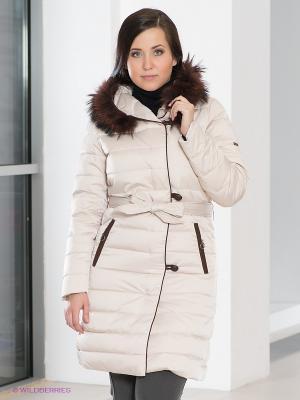 Пальто La Reine Blanche. Цвет: кремовый