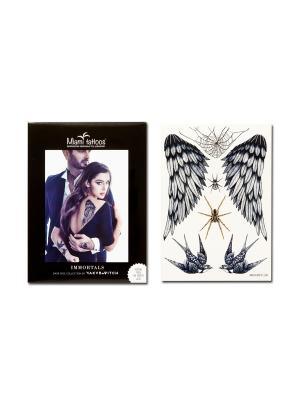 Переводные тату Miami Tattoos Dark Side Immortals. Цвет: черный, золотистый