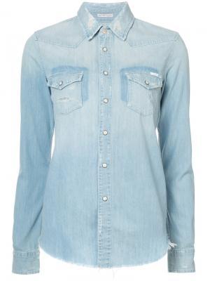Джинсовая рубашка Shady Xs Mother. Цвет: синий