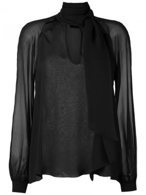 Silk shirt Giuliana Romanno. Цвет: чёрный