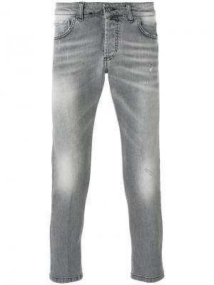 Укороченные джинсы скинни Entre Amis. Цвет: серый