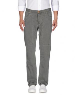 Джинсовые брюки JECKERSON. Цвет: зеленый-милитари