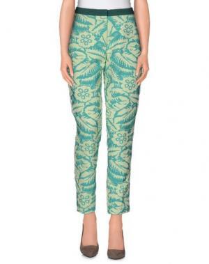 Повседневные брюки TERESA DAINELLI. Цвет: светло-зеленый