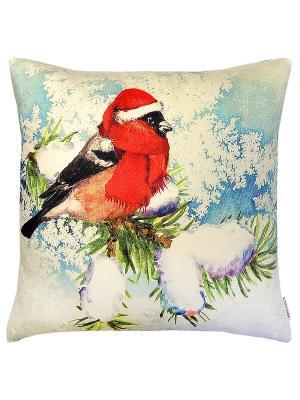Чехол для подушки Зимний день Altali. Цвет: голубой