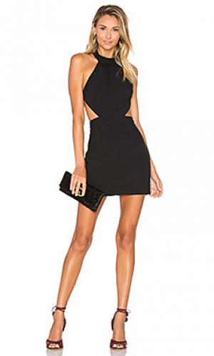 Обтягивающее платье show it off NBD. Цвет: черный