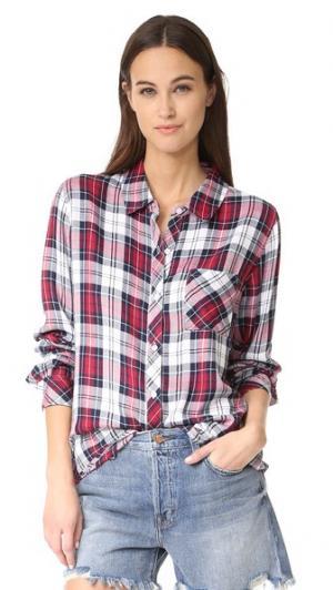 Рубашка на пуговицах Hunter RAILS. Цвет: патриот/ярко-красный/белый
