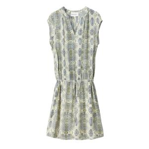 Платье с рисунком без рукавов SUD EXPRESS. Цвет: рисунок желтый/синий