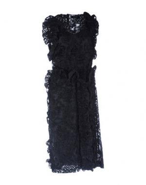 Платье длиной 3/4 SIMONE ROCHA. Цвет: черный