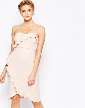 Elise Ryan Платье-футляр миди. Цвет: розовый