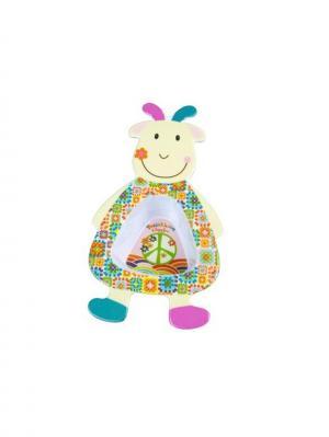Мисочка Козочка Жужу Ebulobo. Цвет: зеленый, голубой, молочный, оранжевый, розовый, фиолетовый