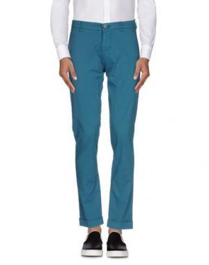 Повседневные брюки BERWICH. Цвет: бирюзовый