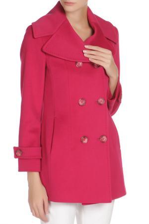 Полуприлегающее пальто с застежкой на пуговицы Cinzia Rocca. Цвет: розовый