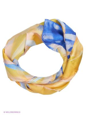 Платок Venera. Цвет: желтый, синий, персиковый