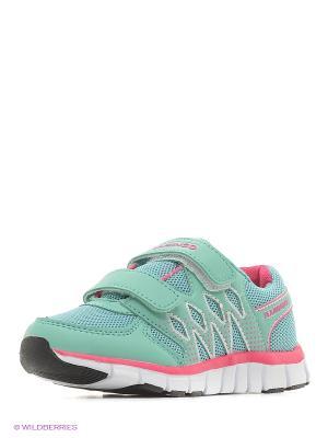 Кроссовки Flamingo. Цвет: зеленый, розовый
