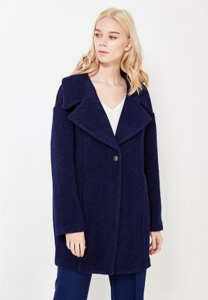 Пальто Silvian Heach. Цвет: синий