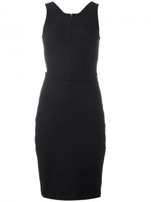 Приталенное платье с вырезной деталью на спине Elizabeth And James. Цвет: чёрный
