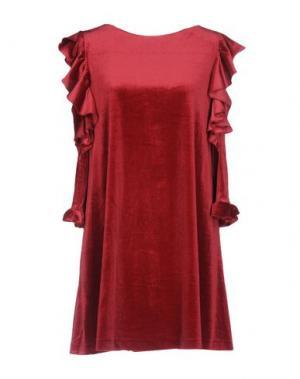 Короткое платье GUTTHA. Цвет: красно-коричневый