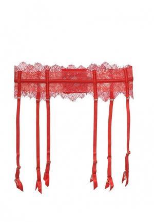 Пояс для чулок Incanto. Цвет: красный