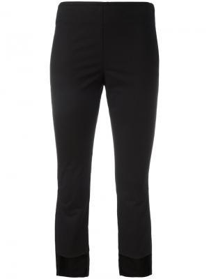 Асимметричные укороченные брюки Hache. Цвет: чёрный