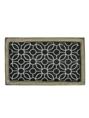Тарелка декоративная RICH LINE Home Decor. Цвет: серый, черный