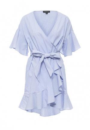 Платье Topshop. Цвет: голубой