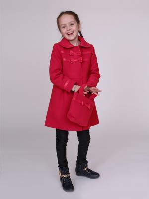 Пальто nasha. Цвет: красный