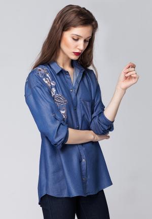 Блуза Vilatte. Цвет: голубой