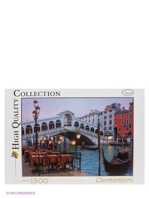 Пазл Венеция. Мост Риальто, 1500 эл. Clementoni. Цвет: белый, голубой, красный
