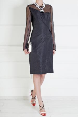 Шелковое платье Roland Mouret. Цвет: черный