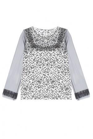 Блузка с принтом VIKTORIA IRBAIEVA. Цвет: молочный, черный