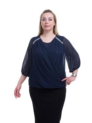 Блуза OLSI. Цвет: синий