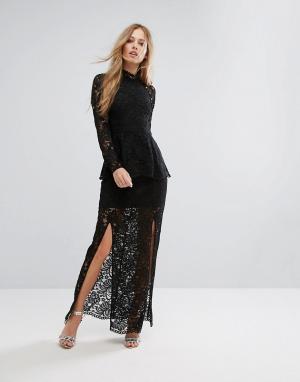 Keepsake Кружевное платье Star. Цвет: черный
