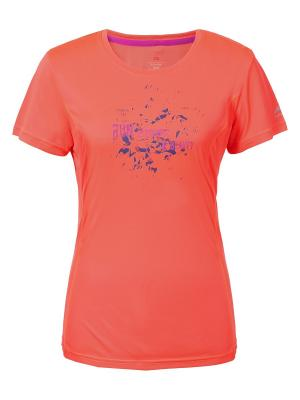 Футболка LI-NING. Цвет: персиковый
