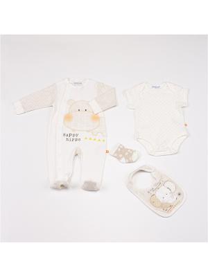 Комплекты нательные для малышей BABALUNO. Цвет: кремовый