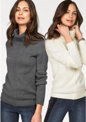 Пуловер, 2 штуки Flashlights. Цвет: ягодный+черный