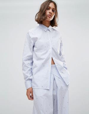 Wood Рубашка в полоску Lori. Цвет: синий