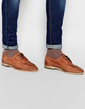 Hudson London Плетеные туфли Anfa. Цвет: коричневый