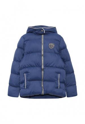 Куртка утепленная 3 Pommes. Цвет: синий