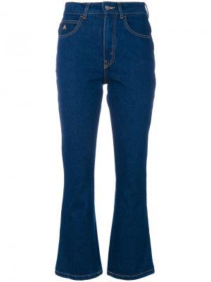 Укороченные брюки клеш Attico. Цвет: синий