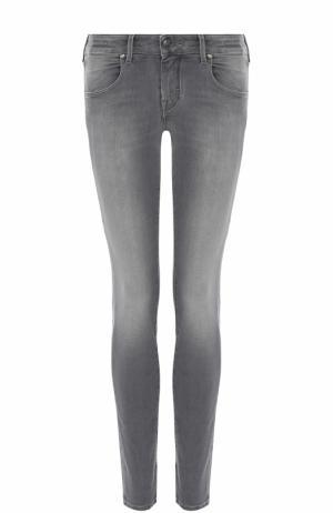 Укороченные джинсы прямого кроя с потертостями Jacob Cohen. Цвет: серый