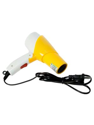 Набор- фен электрический и плойка для укладки волос PROFFI. Цвет: серый, желтый