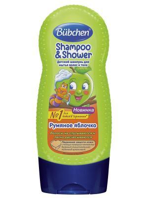 Бюбхен Шампунь для волос и тела Румяное яблочко, 230 мл Bubchen. Цвет: светло-зеленый