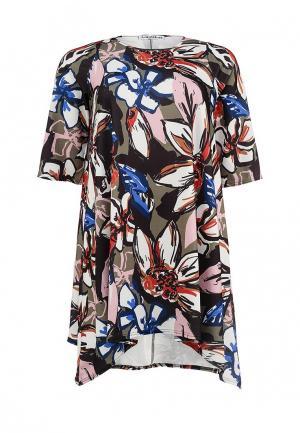 Платье Amplebox Size Plus. Цвет: разноцветный